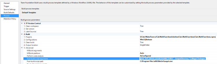 TFS Build Process with NuGet