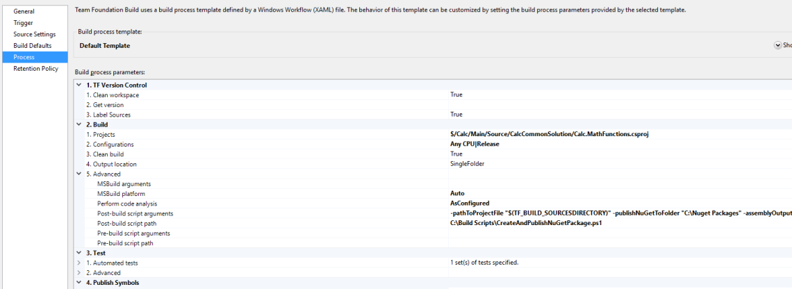 TFS Build Process with own PowerShell script